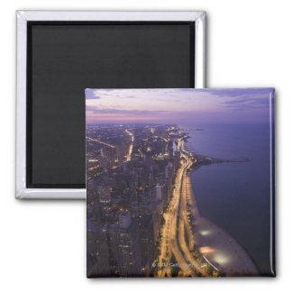 Chicago, Illinois, USA 6 2 Inch Square Magnet