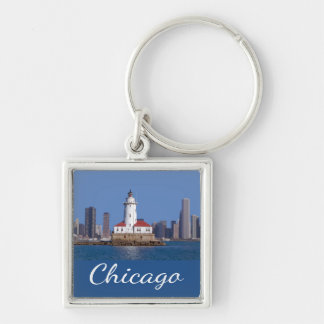 Chicago Illinois USA - Chicago Skyline At Night Keychain