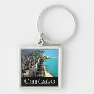 Chicago Illinois USA - Chicago Skyline Keychain