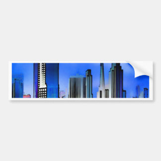 chicago illinois usa city skyline bumper sticker
