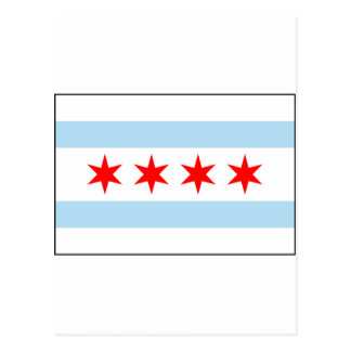 Chicago, Illinois USA Flag Postcard