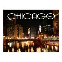 Chicago Illinois USA - Night Chicago Skyline
