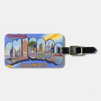 Chicago Illinois Vintage Luggage Tag