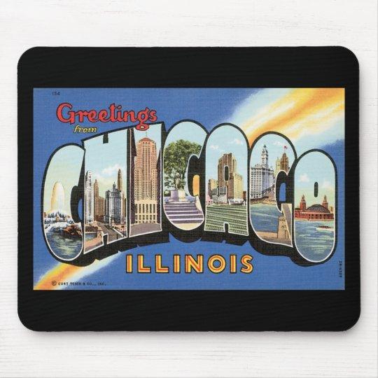 Chicago Illinois Vintage Postcard Mouse Pad