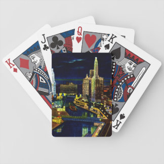 Chicago Illinois Wacker Drive at Night Bicycle Playing Cards