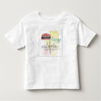 Chicago, Illinois | Watercolor Sketch Toddler T-shirt