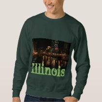Chicago Illinois Windy City Night Building Destiny Sweatshirt