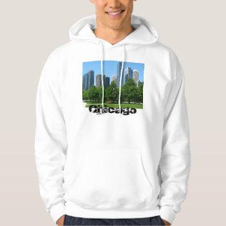 Chicago Illinois Windy City Park Buildings Destiny Hoodie