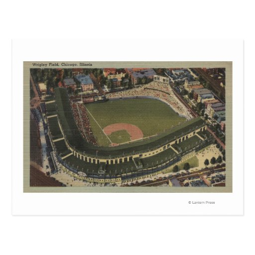 Chicago, Illinois - Wrigley coloca Cubs Tarjeta Postal