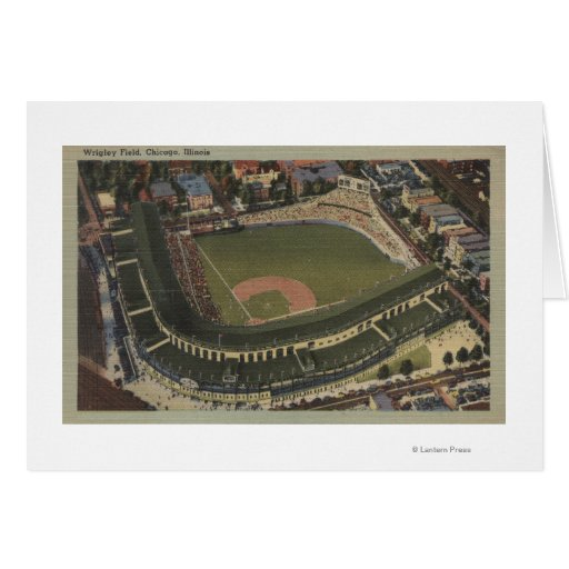 Chicago, Illinois - Wrigley Field Cubs Greeting Cards