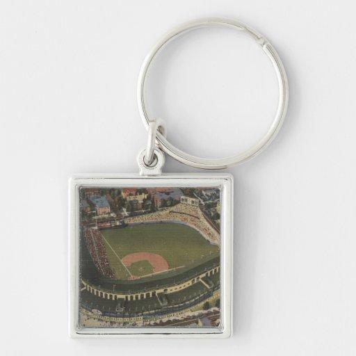 Chicago, Illinois - Wrigley Field Cubs Keychain