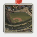 Chicago, Illinois - Wrigley Field Cubs Christmas Ornaments