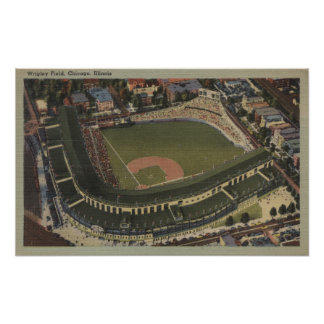 Chicago, Illinois - Wrigley Field Cubs Poster