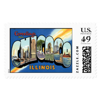 Chicago Illnois Postage