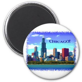 Chicago Imán Redondo 5 Cm