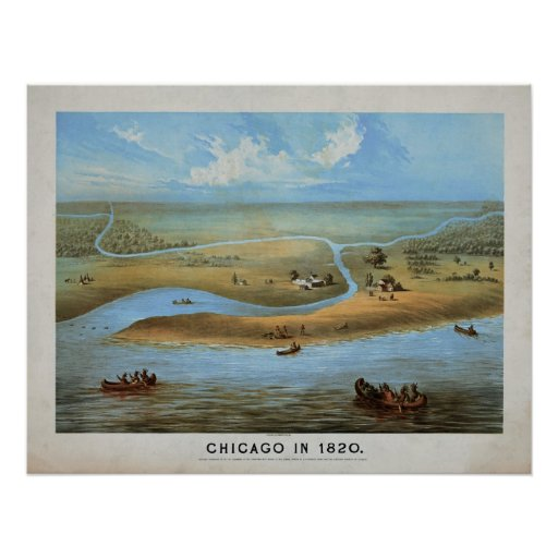 Chicago in 1820 poster
