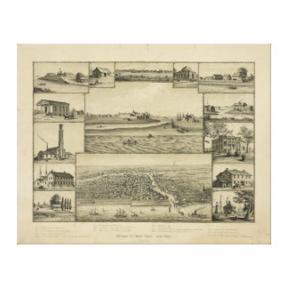 Chicago in Early Days 1779-1857 Canvas Print