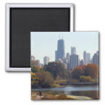 Chicago In The Fall Fridge Magnets