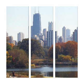 Chicago In The Fall Wrapped Canvas