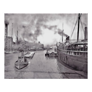 Chicago Industrial Waterfront Poster