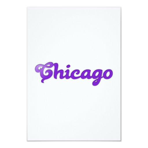 """Chicago Invitación 3.5"""" X 5"""""""