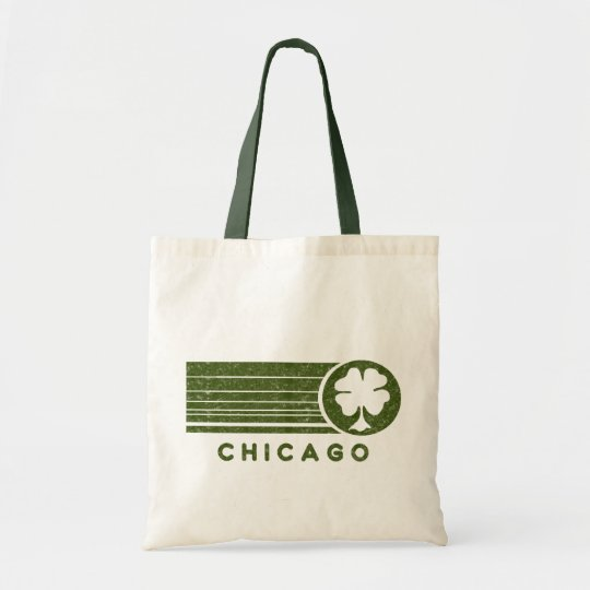 Chicago Irish Four Leaf Clover Tote Bag
