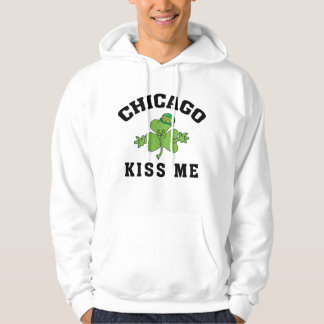 Chicago Irish Kiss Me Hooded Pullover
