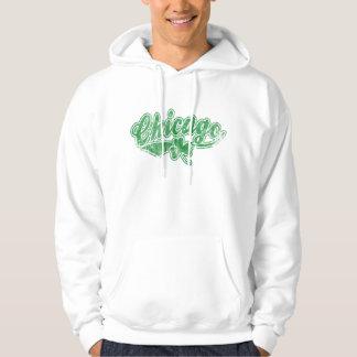 Chicago Irish Shamrock Hooded Sweatshirt