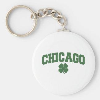 Chicago (Irish Shamrock) Keychain