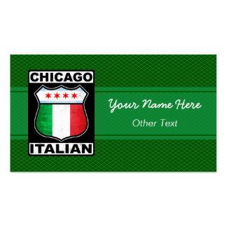 Chicago Italian American Custom Business Cards