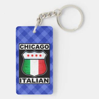 Chicago Italian American Keyring