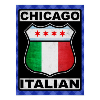 Chicago Italian American Poster Print