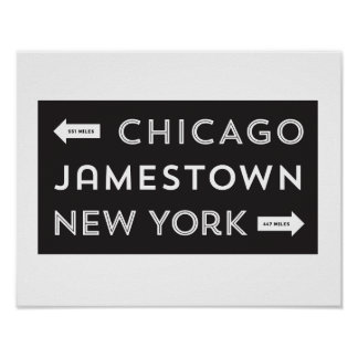Chicago-Jamestown-New York Poster (11 x 14)