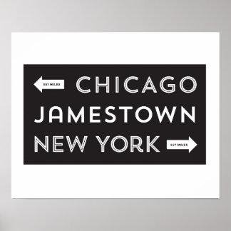 Chicago-Jamestown-New York Poster (16 x 20)