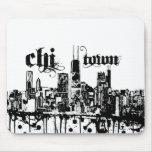 """Chicago """"ji-ciudad"""" puso para su ciudad alfombrillas de ratón"""