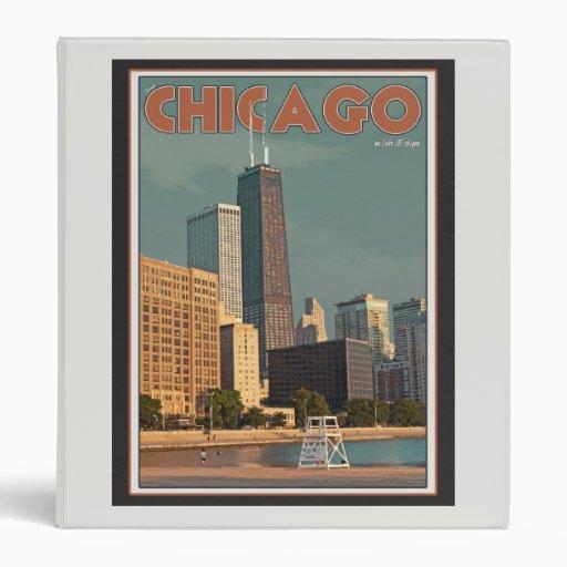 Chicago - John Hancock Center 3 Ring Binders