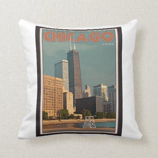 Chicago - John Hancock Center Pillows