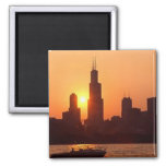 Chicago Journal 2 2 Inch Square Magnet