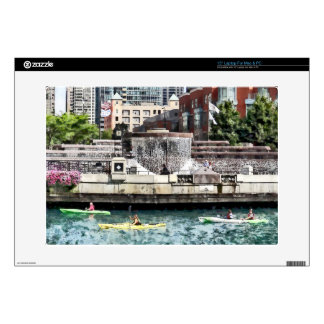 Chicago - Kayaking on the Chicago River Decal For Laptop