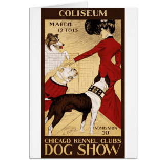 Chicago Kennel Club's Dog Show, Advertising Poster Card