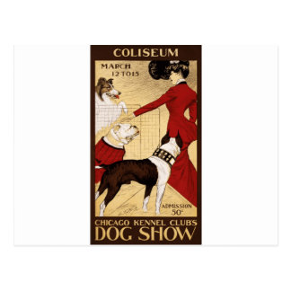Chicago Kennel Club's Dog Show, Advertising Poster Postcard