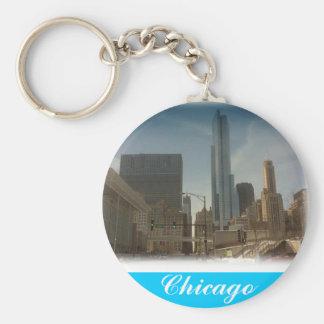 Chicago,Keychain Basic Round Button Keychain