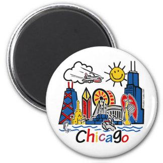 Chicago-KIDS-[Converted] 2 Inch Round Magnet