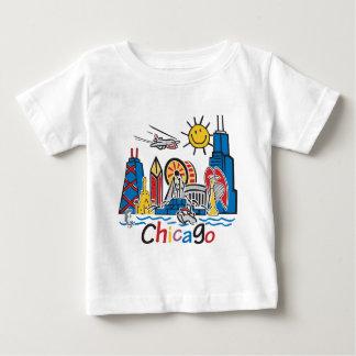 Chicago Kids Cute Skyline design Baby T-Shirt