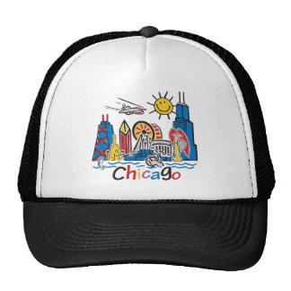 Chicago Kids Cute Skyline design Trucker Hat
