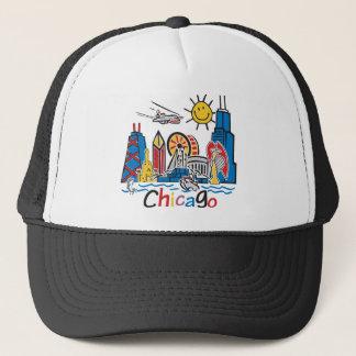 Chicago Kids Cute Skyline Trucker Hat