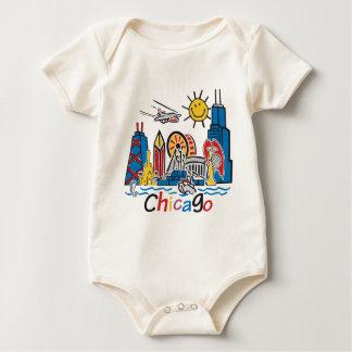 Chicago Kids Dark Baby Bodysuit