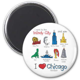 Chicago--kids-Icons-NEW-[Co 2 Inch Round Magnet