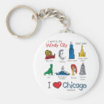 Chicago--kids-Icons-NEW-[Co Basic Round Button Keychain