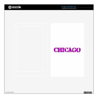 Chicago Kindle Fire Decal